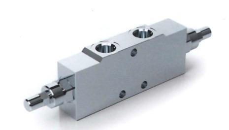 Тормозной клапан двусторонний линейный тип A с разблокировкой тормоза VBCD DE A SF