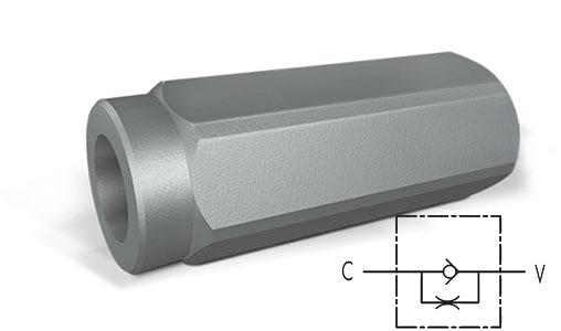 Дроссель линейный фиксированный с обратным клапаном тип VUSF