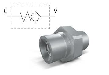 Клапан обратный линейный  папа-папа  тип VU MM