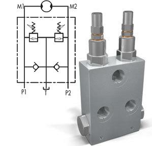 Перекрестный предохранительный клапан с антикавитацией тип VAUAC